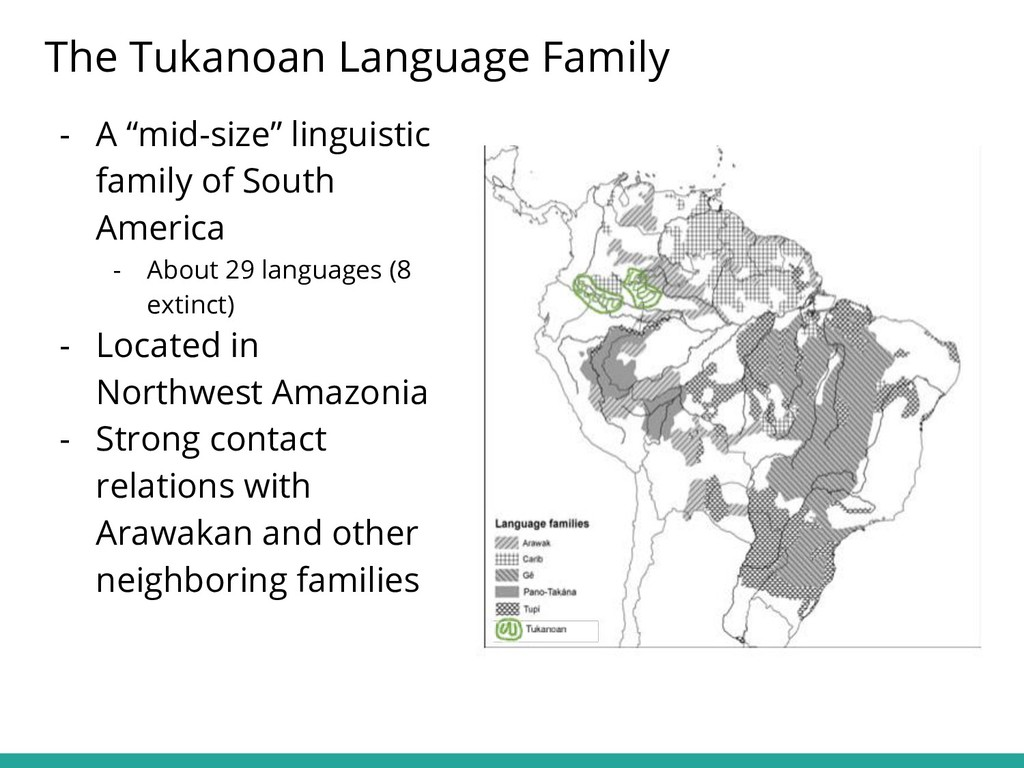 """- A """"mid-size"""" linguistic family of South Ameri..."""