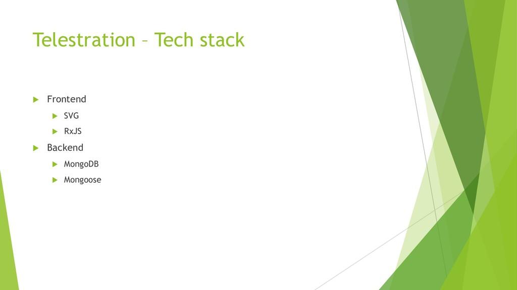 Telestration – Tech stack u Frontend u SVG u Rx...