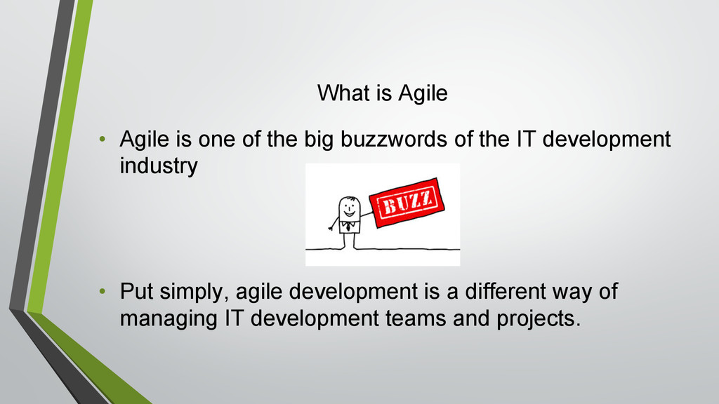 What is Agile • Agile is one of the big buzzwor...