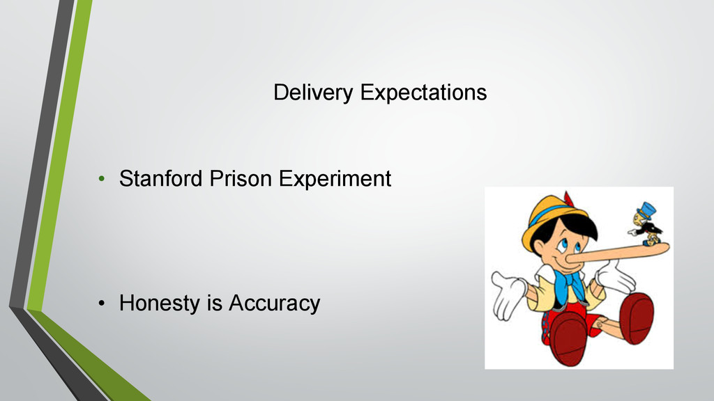 Delivery Expectations • Stanford Prison Experim...