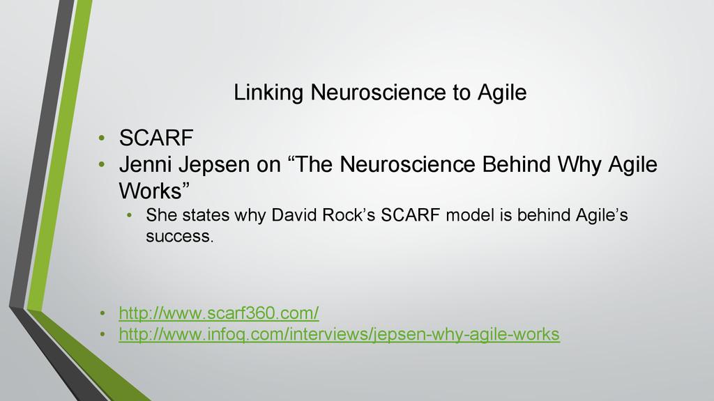 Linking Neuroscience to Agile • SCARF • Jenni J...