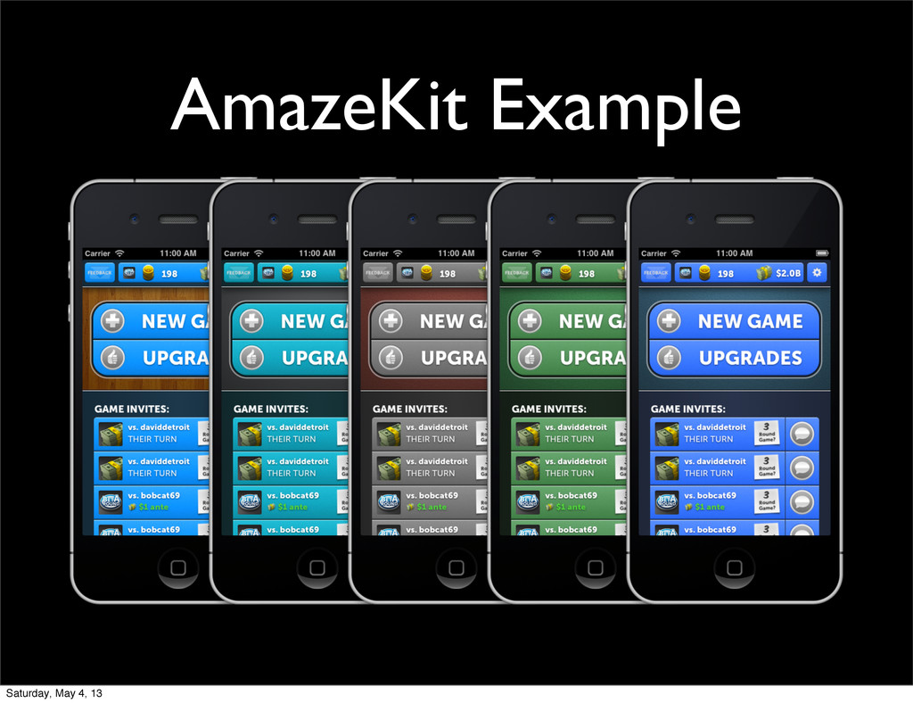 AmazeKit Example Saturday, May 4, 13