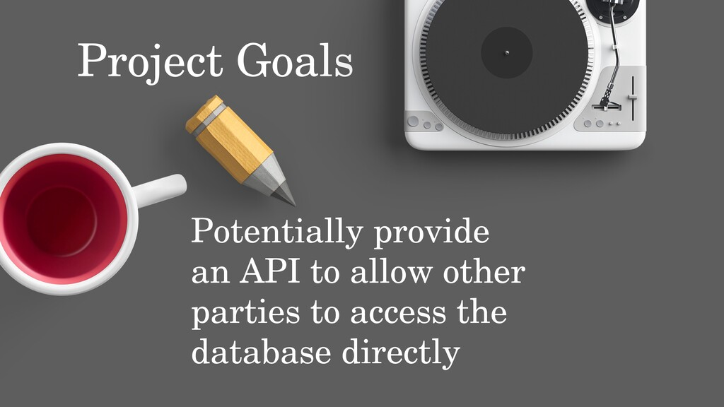Potentially provide an API to allow other parti...