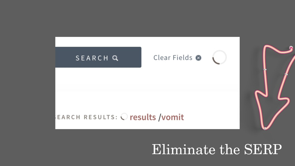 Eliminate the SERP