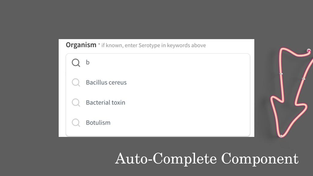Auto-Complete Component