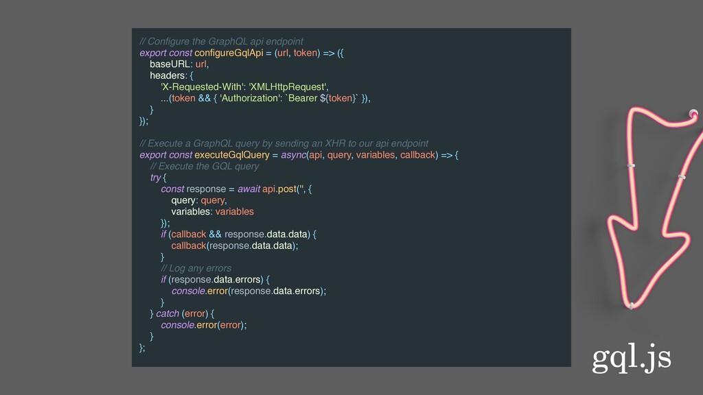 gql.js // Configure the GraphQL api endpoint exp...