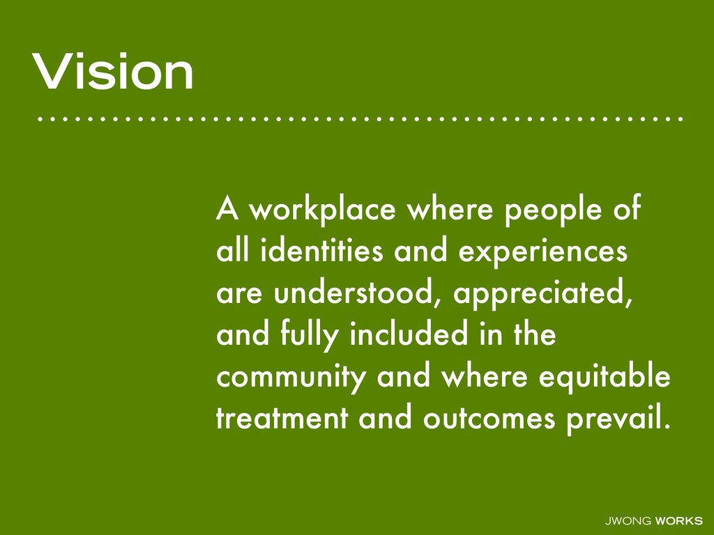 JWONG WORKS Vision A workplace where people of ...