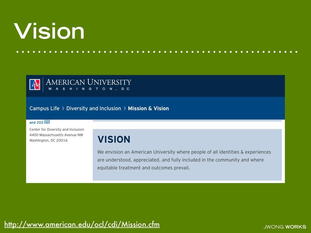 JWONG WORKS Vision http://www.american.edu/ocl/...