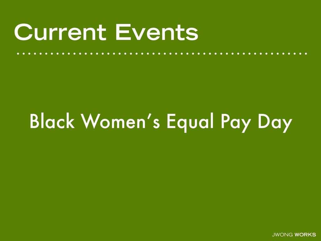 JWONG WORKS Current Events Black Women's Equal ...