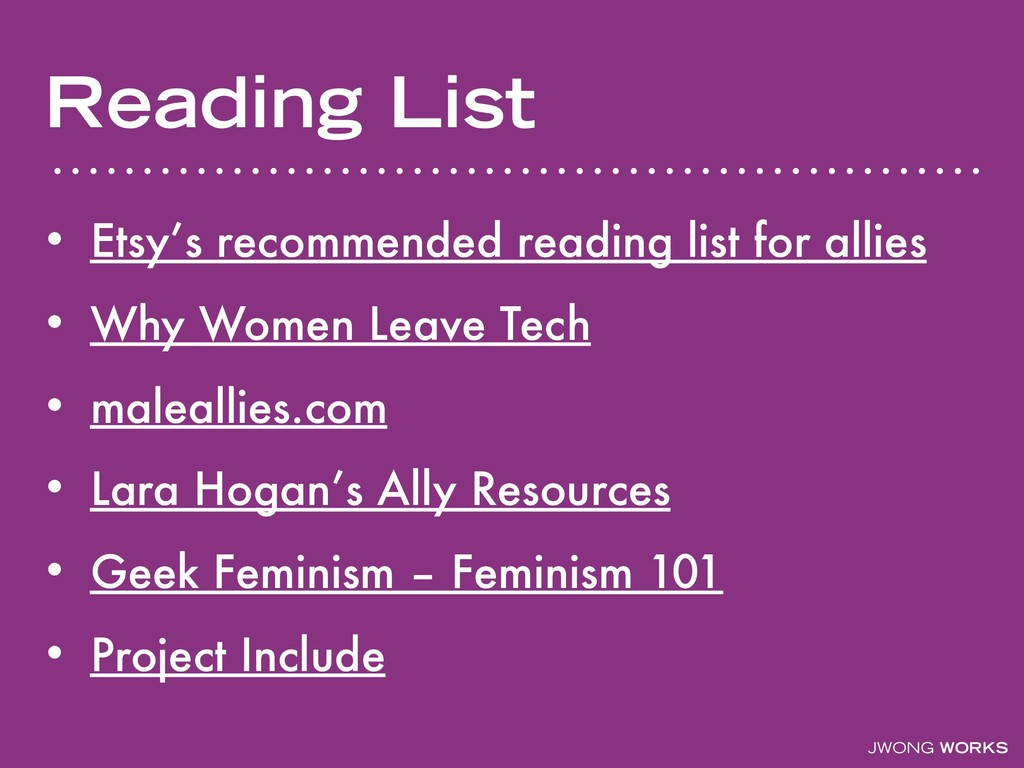 JWONG WORKS Reading List • Etsy's recommended r...