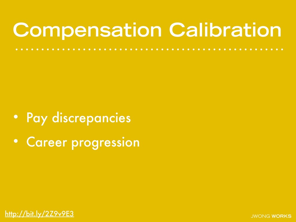 JWONG WORKS Compensation Calibration • Pay disc...