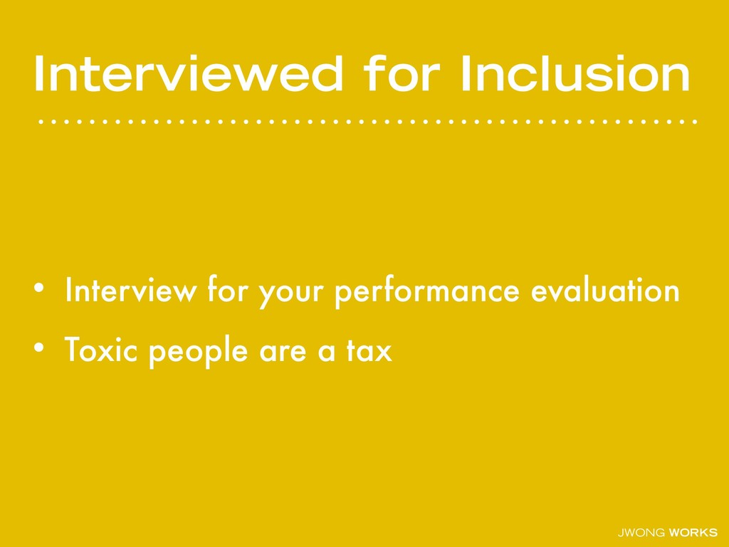 JWONG WORKS Interviewed for Inclusion • Intervi...