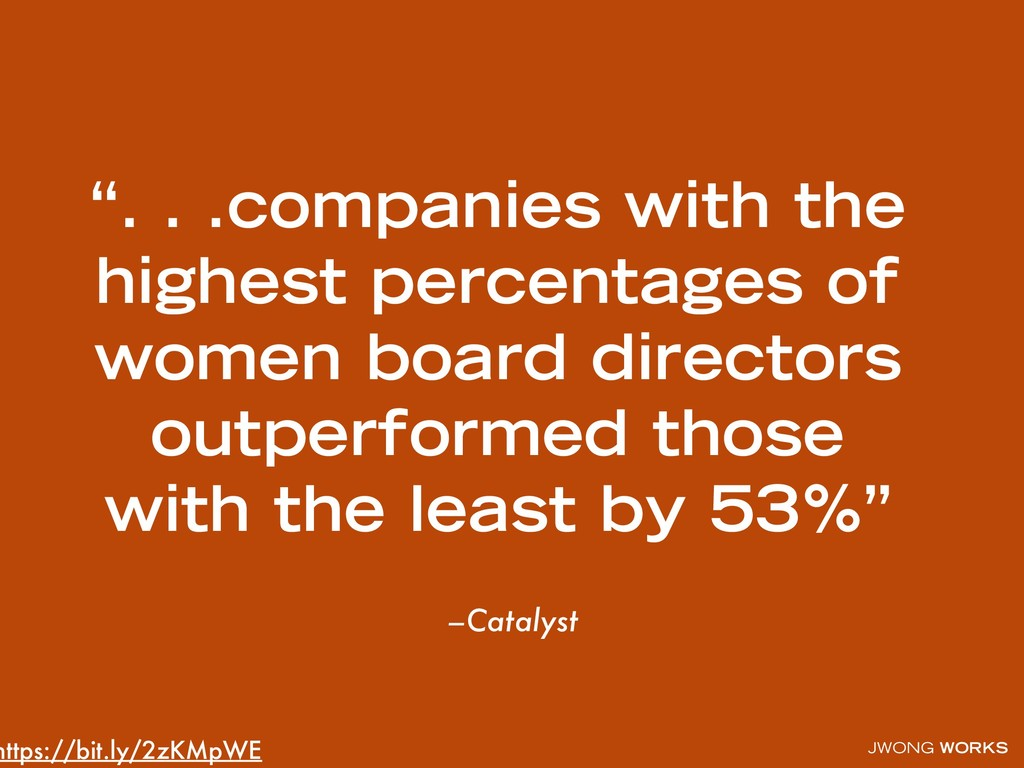 """JWONG WORKS –Catalyst """". . .companies with the ..."""
