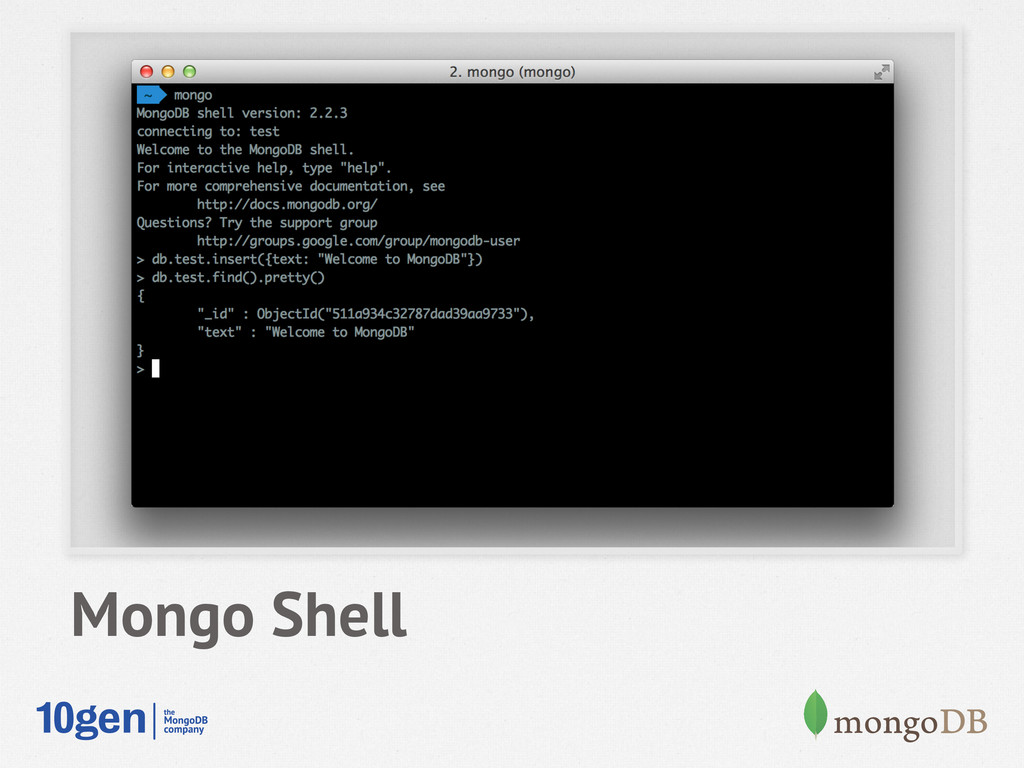 Mongo Shell