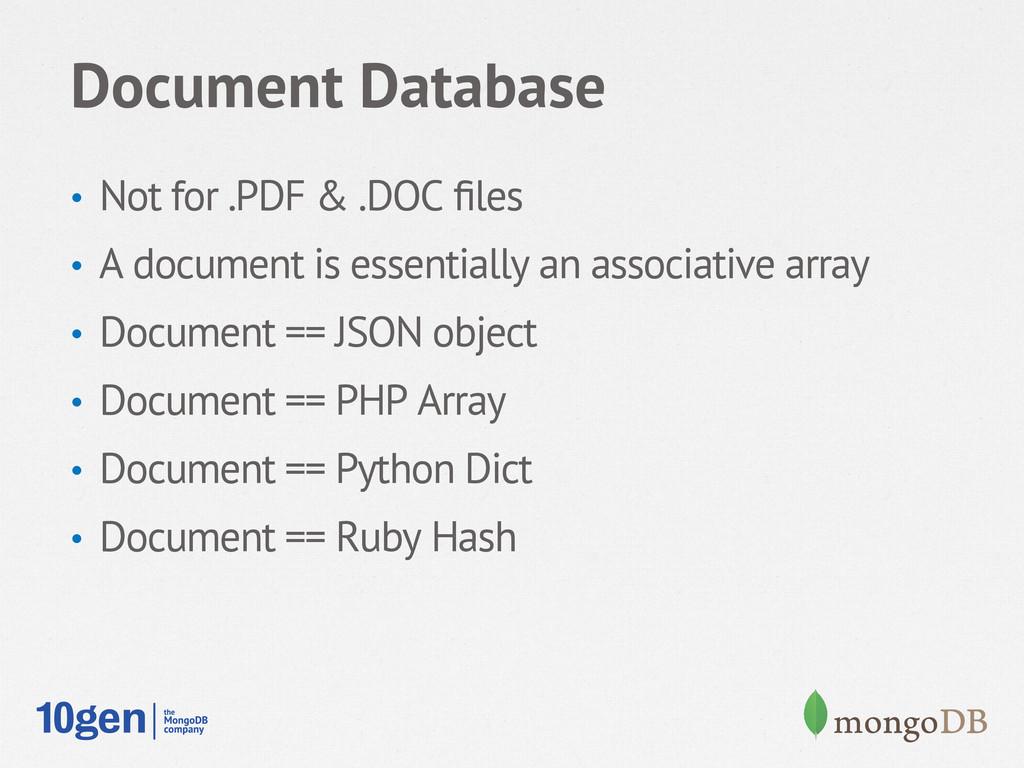 Document Database • Not for .PDF & .DOC files •...