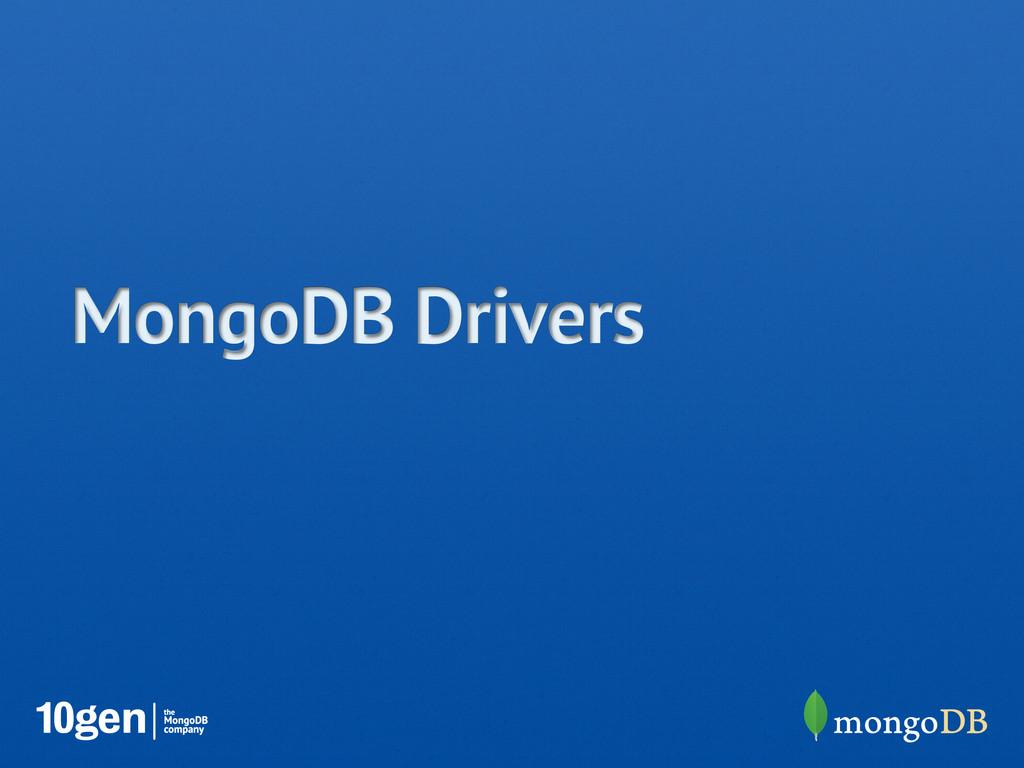 MongoDB Drivers