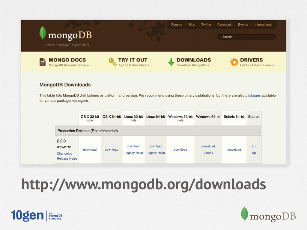 http://www.mongodb.org/downloads
