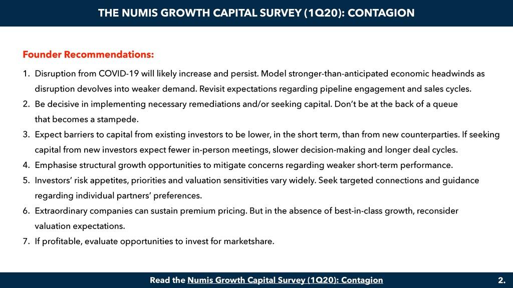 THE NUMIS GROWTH CAPITAL SURVEY (1Q20): CONTAGI...