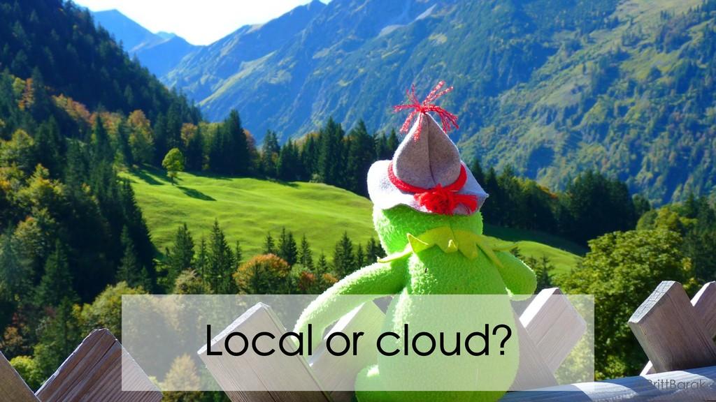 Local or cloud? @BrittBarak