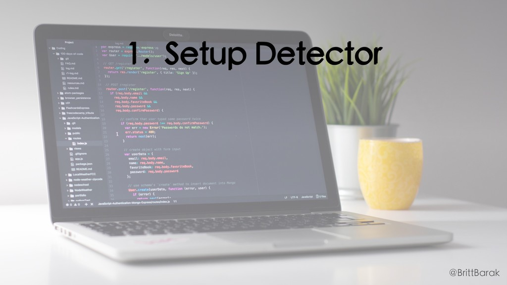 1. Setup Detector @BrittBarak
