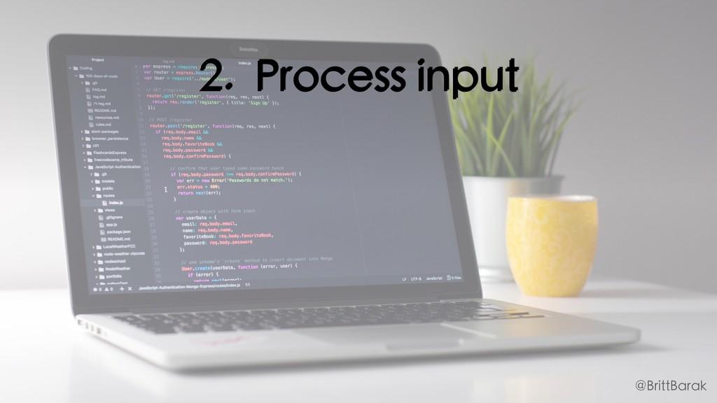 2. Process input @BrittBarak