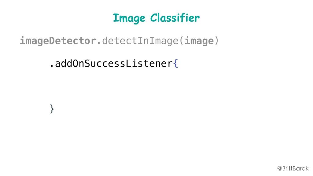 Image Classifier imageDetector.detectInImage(im...