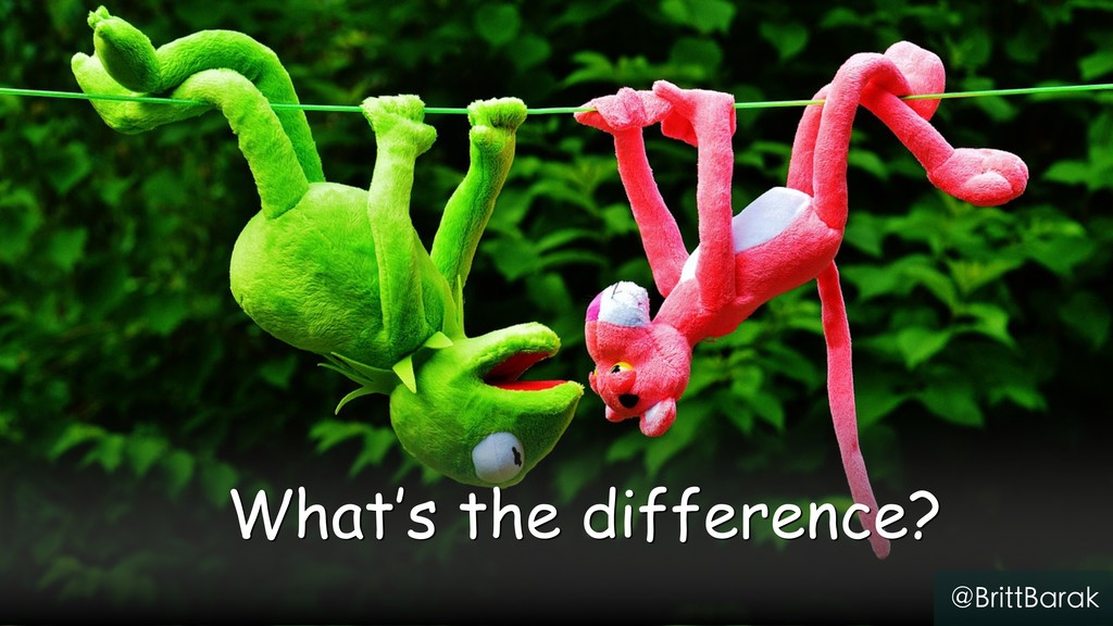 § What's the difference? @BrittBarak