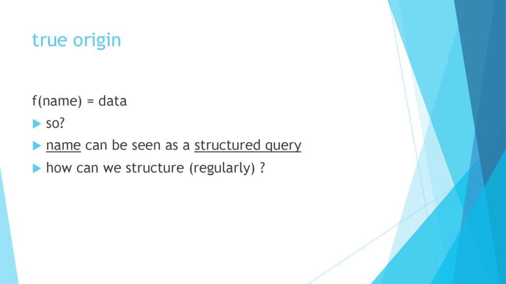 true origin f(name) = data u so? u name can...