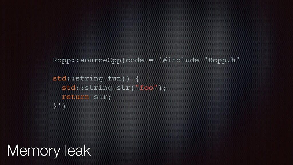 "Rcpp::sourceCpp(code = '#include ""Rcpp.h"" std::..."