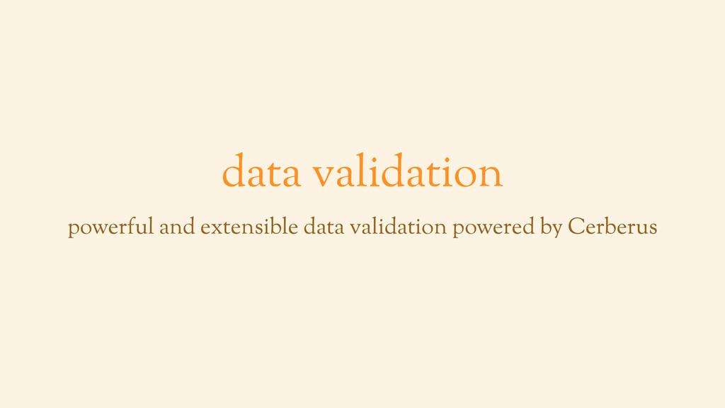 data validation powerful and extensible data va...