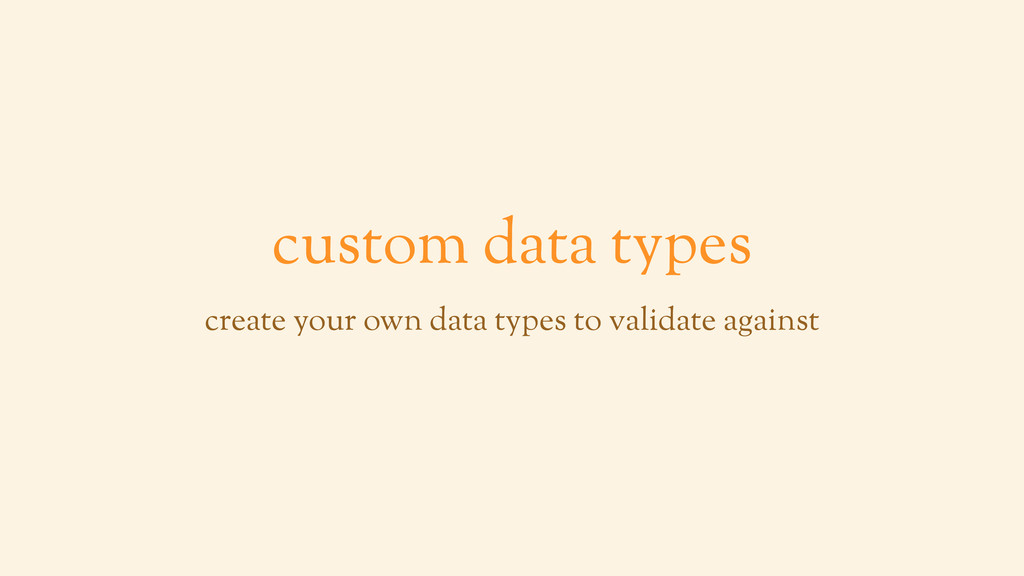 custom data types create your own data types to...