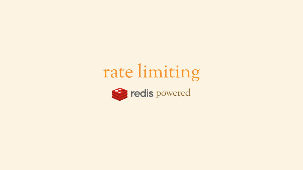 rate limiting powered