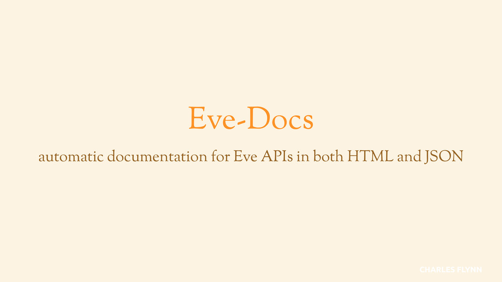 Eve-Docs automatic documentation for Eve APIs i...