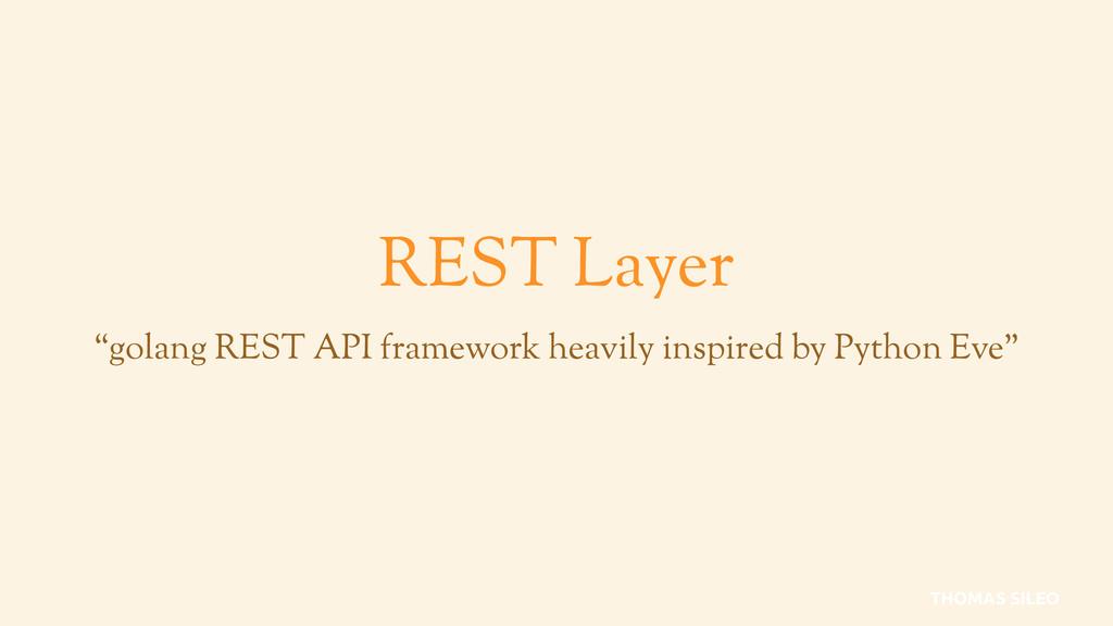 """REST Layer """"golang REST API framework heavily i..."""