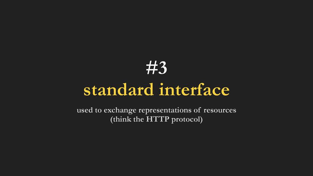 #3 standard interface used to exchange represen...