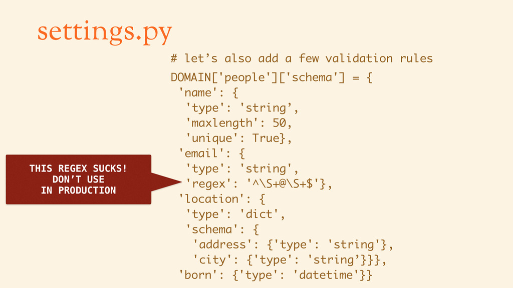 settings.py # let's also add a few validation r...