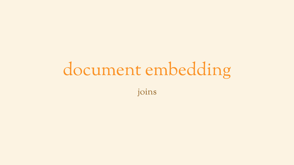 document embedding joins