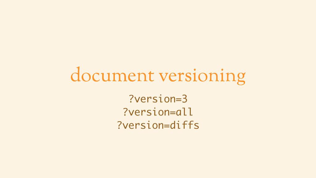 document versioning ?version=3 ?version=all ?ve...