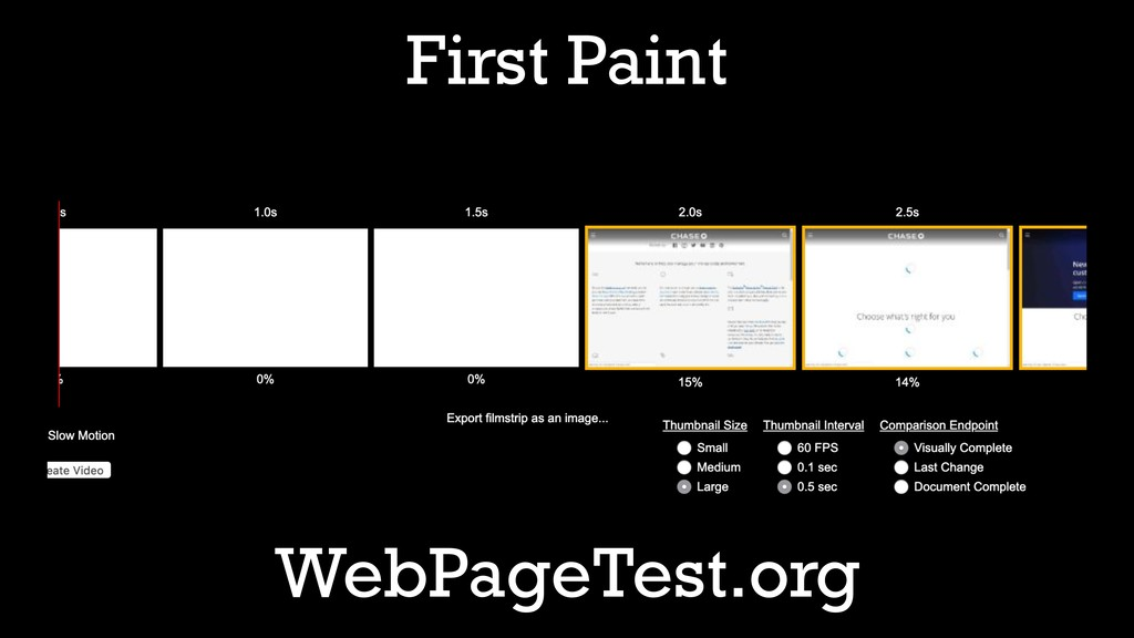 First Paint WebPageTest.org