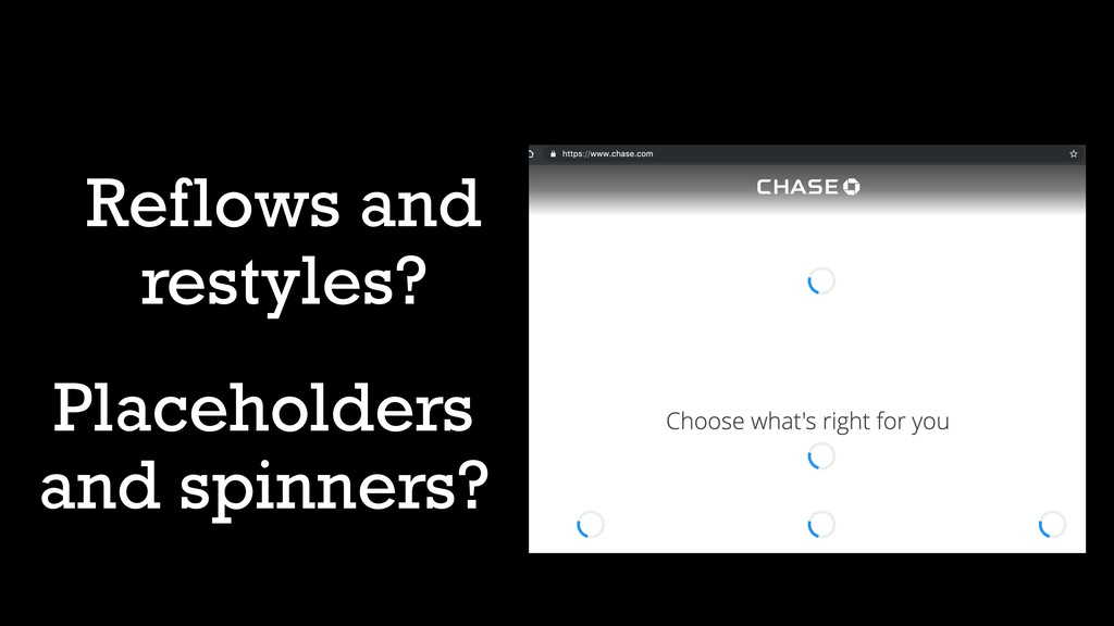 Reflows and restyles? Placeholders