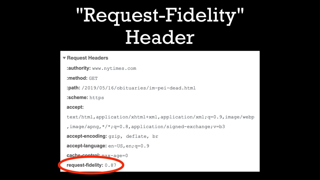 """Request-Fidelity"" Header"