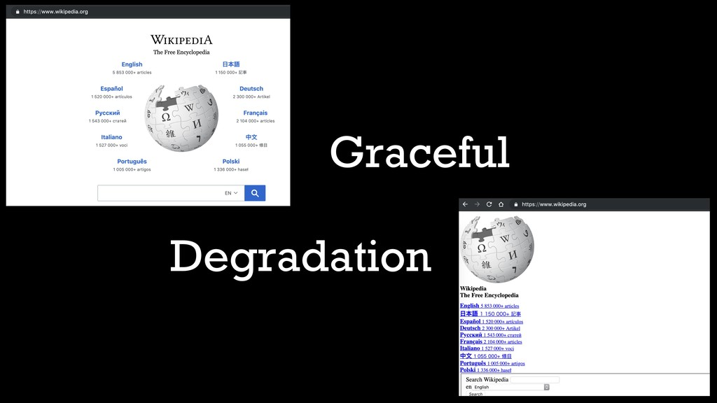 Graceful Degradation