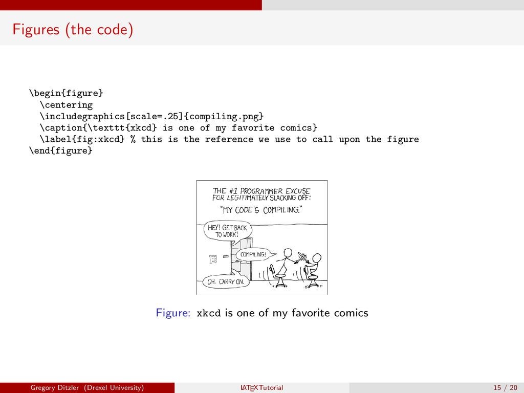 Figures (the code) \begin{figure} \centering \i...