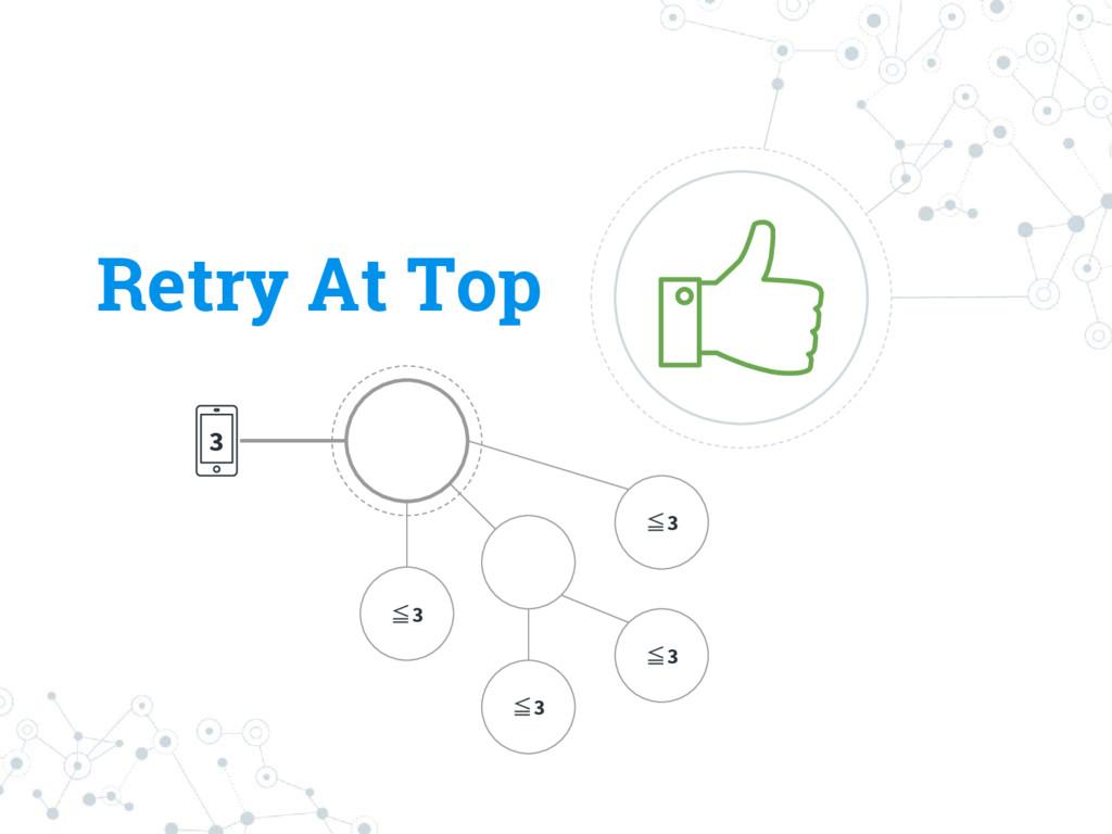 Retry At Top 3 ≦3 ≦3 ≦3 ≦3