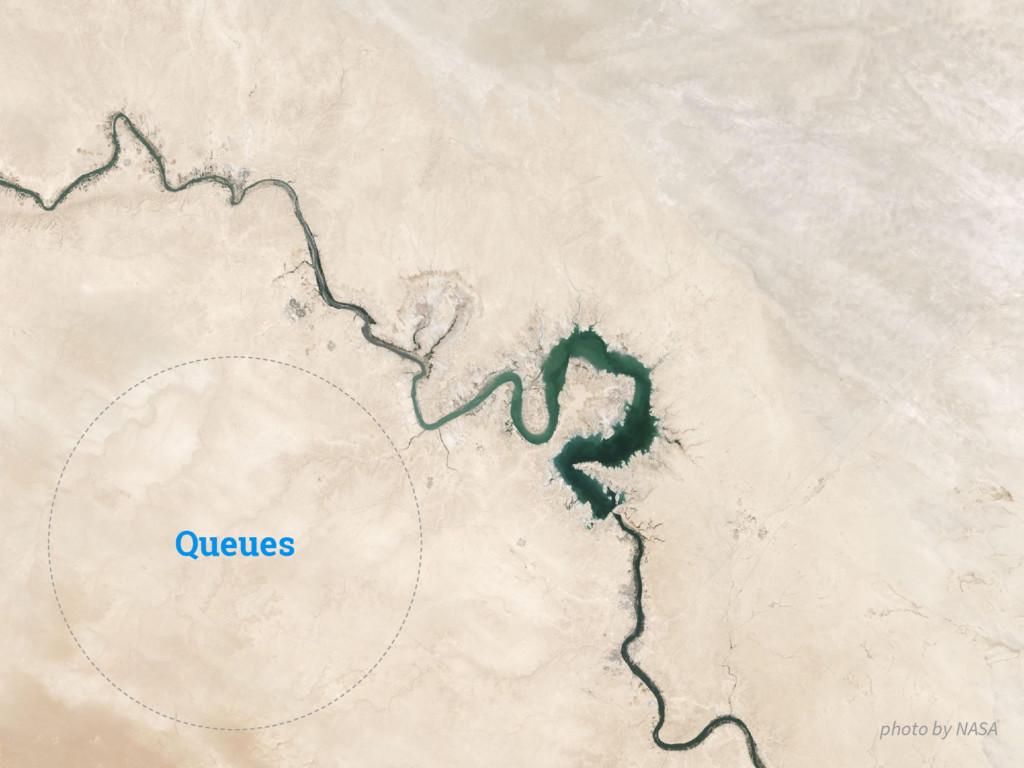 Queues photo by NASA