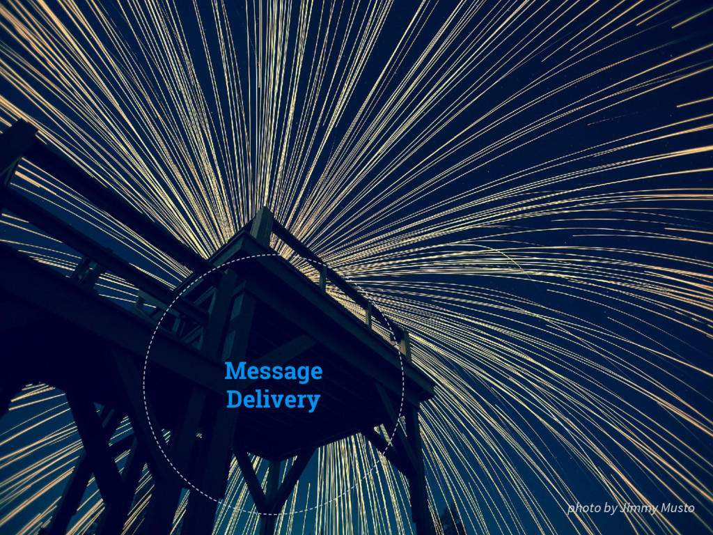 Message Delivery photo by Jimmy Musto