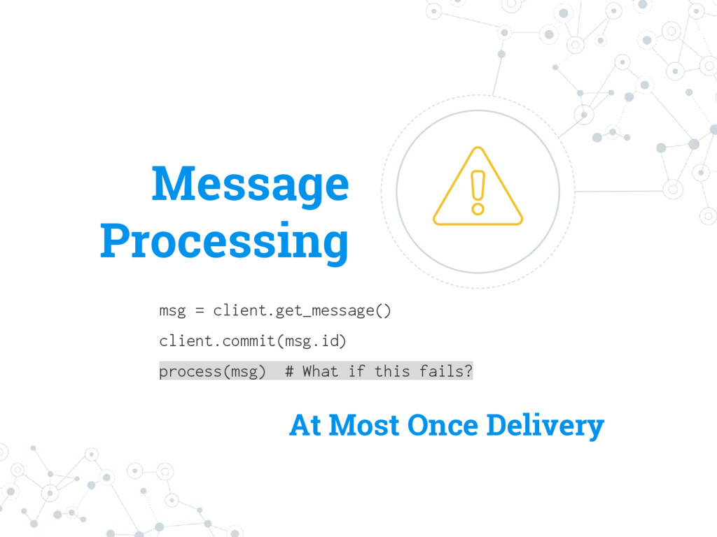 Message Processing msg = client.get_message() c...