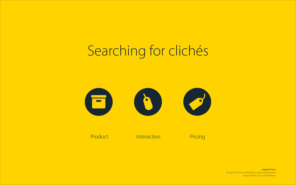 Searching for clichés Product Interaction Prici...