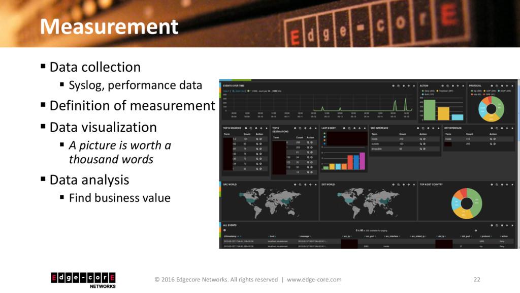 Measurement 22 © 2016 Edgecore Networks. All ri...