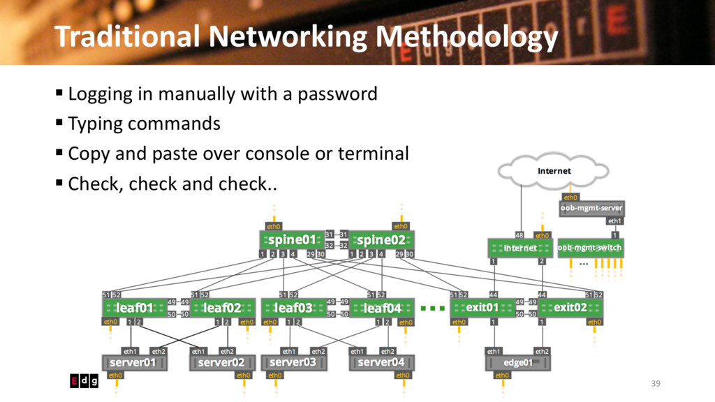 Traditional Networking Methodology 39 © 2016 Ed...